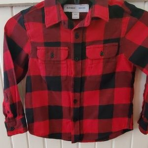 Old navy flannel button up size xs 5 euc